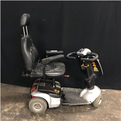 GREY SHOPRIDER MOBILITY SCOOTER, DOES NOT POWER ON, NO CHARGER, NO KEY, NOT TESTED, POOR CONDITION