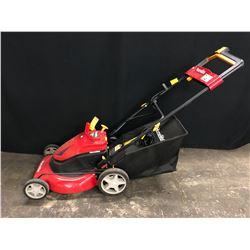 HOMELITE 24V ELECTRIC LAWN MOWER WITH CHARGER