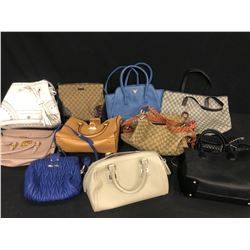 11 ASSORTED NEW & LIGHTLY USED DESIGNER PURSES AND WALLETS (AUTHENTICITY UNKNOWN)