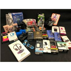 ELECTRONICS AND HOUSEHOLD ITEMS INC. HEADPHONES, BATTERIES, MAGNET MOUNT PELICAN CASES (1010 AND