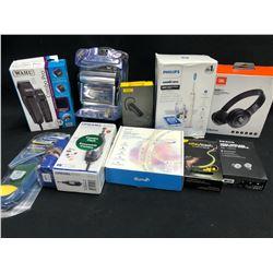 ASSORTED ELECTRONICS INC. HEADPHONES, LED STRIPS, DREMEL AND MORE