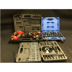 TOOLS INC. JET SOCKET SET NO.610329, CRAFTSMAN CORDLESS DRILL AND FLASHLIGHT SET WITH 2 BATTERIES