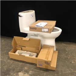 TOTO ONE PIECE TOILET, MODEL MS614114CEFG, COLOR #1, NEW IN BOX, OPENED TO CHECK FOR DAMAGE
