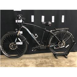 BLACK THUNDER E-BIKE 7 SPEED ELECTRIC ASSIST FRONT SUSPENSION TRAIL BIKE WITH FRONT AND REAR DISC