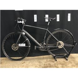 BLACK MARIN FAIRFAX 18 SPEED TRAIL BIKE WITH FRONT AND REAR HYDRAULIC DISC BRAKES, REAR FENDER