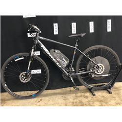 BLACK NORCO XFR 24 SPEED ELECTRIC ASSIST FRONT SUSPENSION TRAIL BIKE WITH FRONT AND REAR
