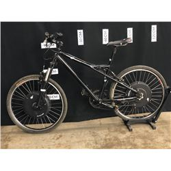 BLACK E+ 7 SPEED FRONT SUSPENSION ELECTRIC ASSIST TRAIL BIKE, MISSING ELECTRICAL COMPONENTS,