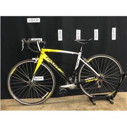 YELLOW AND BLACK GIANT DEFY 27 SPEED ROAD BIKE, MEDIUM FRAME SIZE, STANDOVER HEIGHT: 77 CM
