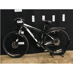BLACK AND WHITE GIANT ATX 830 27 SPEED FRONT SUSPENSION MOUNTAIN BIKE WITH FRONT AND REAR DISC