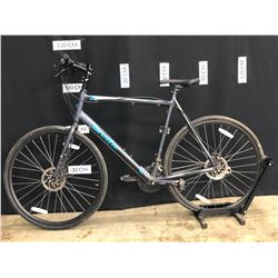 BLUE BRODIE TESLA 24 SPEED HYBRID TRAIL BIKE WITH FRONT AND REAR HYDRAULIC DISC BRAKES, 62 CM FRAME