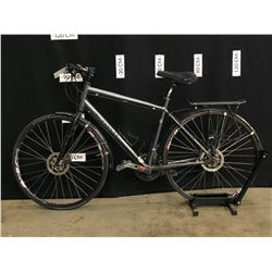 GREY KONA DR LEW 27 SPEED HYBRID TRAIL BIKE WITH FRONT AND REAR HYDRAULIC DISC BRAKES, MINOR