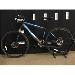 BLACK AND BLUE CCM KROSSPORT 21 SPEED FRONT SUSPENSION MOUNTAIN BIKE WITH FRONT AND REAR DISC