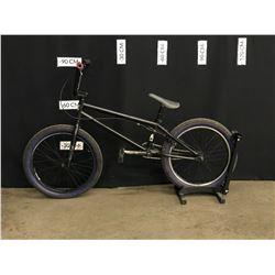 BLACK NORCO BMX BIKE, REAR BRAKE ONLY, BRAKE WORKING BUT NEEDS ADJUSTMENT