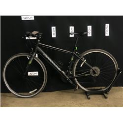 BLACK CANNONDALE QUICK 27 SPEED HYBRID TRAIL BIKE, MEDIUM FRAME SIZE, STANDOVER HEIGHT: 77 CM