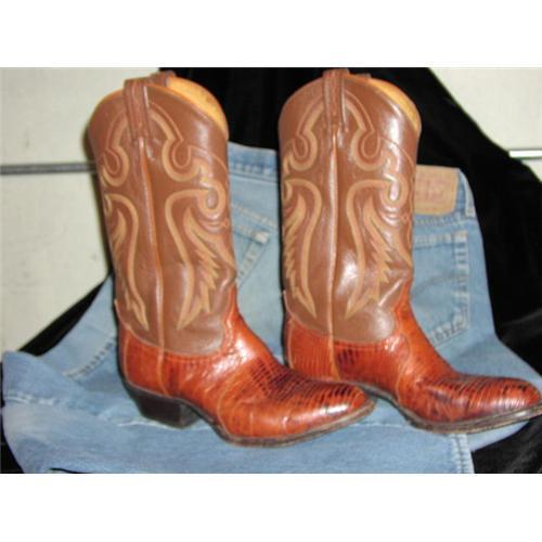 cb74cfa9b25 Genuine Tony Lama Lizard Cowboy Boot #871752