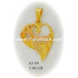 14K Gold Pendant Charm Jewelry Colgante Heart Swe