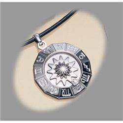 Stainless Steel Zodiac Horoscope DIAMOND NECKLACE