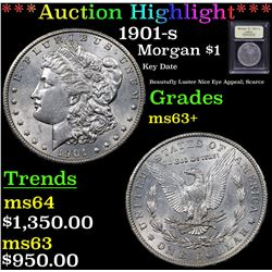***Auction Highlight*** 1901-s Morgan Dollar $1 Graded Select+ Unc By USCG (fc)