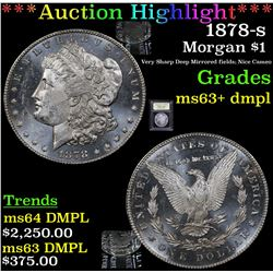 ***Auction Highlight*** 1878-s Morgan Dollar $1 Graded Select Unc+ DMPL By USCG (fc)