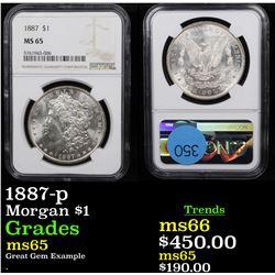 NGC 1887-p Morgan Dollar $1 Graded ms65 By NGC