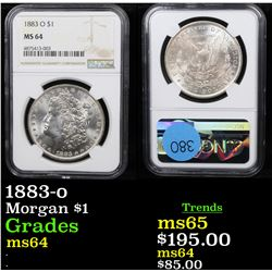 NGC 1883-o Morgan Dollar $1 Graded ms64 By NGC