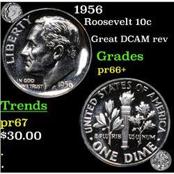 Proof 1956 Roosevelt Dime 10c Grades GEM++ Proof