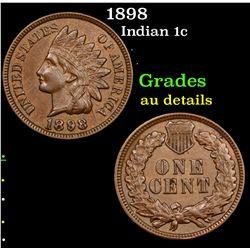 1898 Indian Cent 1c Grades AU Details