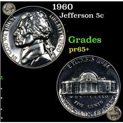 Proof 1960 Jefferson Nickel 5c Grades GEM+ Proof