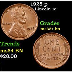 1928-p Lincoln Cent 1c Grades Select+ Unc BN