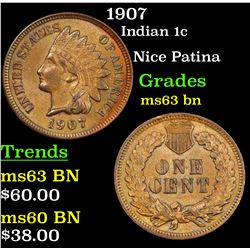 1907 Indian Cent 1c Grades Select Unc BN