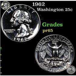Proof 1962 Washington Quarter 25c Grades GEM Proof