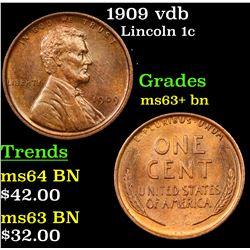 1909 vdb Lincoln Cent 1c Grades Select+ Unc BN