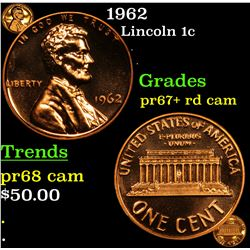 Proof 1962 Lincoln Cent 1c Grades Select+ Proof rd Cam
