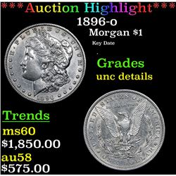 ***Auction Highlight*** 1896-o Morgan Dollar $1 Graded Unc Details By USCG (fc)