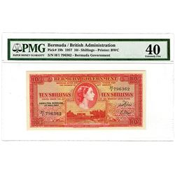 Bermuda Government, 1957 Issue Banknote.