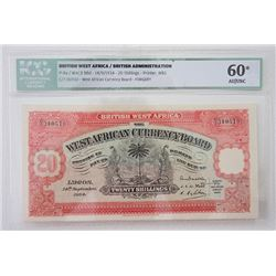 "West African Currency Board, 1934 ""Forgery"" Banknote."