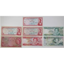 East Caribbean Currency Board & Eastern Caribbean Central Bank. 1953-1994. Lot of 7 Issued Notes.