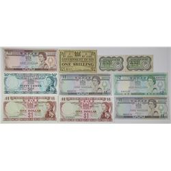 Fiji Government, Reserve Bank of Fiji, & Others. 1942-1988. Lot of 10 Issued Notes.