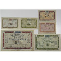 Regie des Chemins de Fer des Territoires Occupes. ND (1923). Lot of 6 Issued Notes.