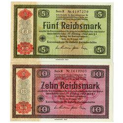 Konversionskasse, 1933 (1934 Issue) Banknote Pair.