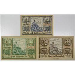 Stadtsparkasse Bielefeld. 1921 Silk Notegeld.
