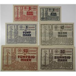 Steinburg District. 1918. Lot of 6 Issued Notes.