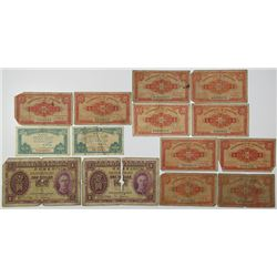Government of Hong Kong. 1941-1949. Lot of 14 Issued Notes.