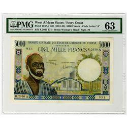 Banque Centrale des Etats de l'Afrique de l'Ouest. 1961-1965. Issued Banknote.