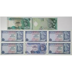 Bank Negara Malaysia. 1976-2004. Lot of 8 Issued Notes.