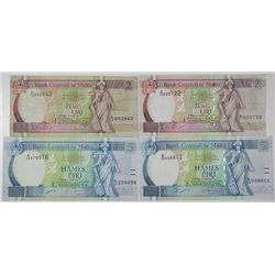 Bank Central ta' Malta. 1994. Lot of4 Issued Notes.