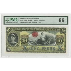 Banco Nacional de Mexico, 1913 Issued Banknote and Possibly the Finest Known.