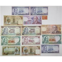 Banque du Maroc. 1944-1991. Lot of 14 Issued Notes.