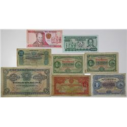 Banco da Beira & Others. 1919-1991. Lot of 8 Issued Notes.