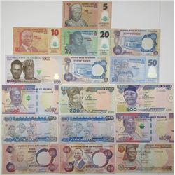 Central Bank of Nigeria. 1973. Lot of 16 Issued Notes.